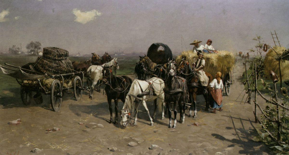 The Hay Makers by Laszlo Pataky Von Sospatak