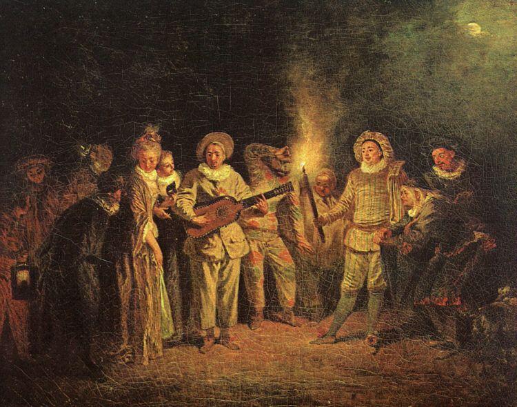 The Italian Comedy by Jean-Antoine Watteau