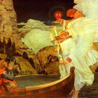 The Knight of the Holy Grail by Frederick Judd Waugh