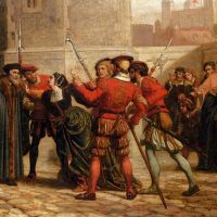 The Meeting Of Sir Thomas More With His Daughter After His Sentence Of Death by William Frederick Yeames