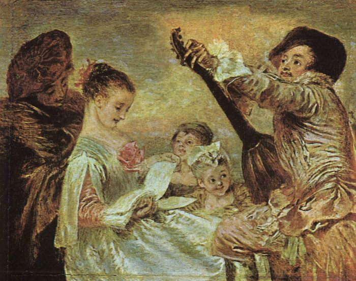 The Music Lesson by Jean Antoine Watteau