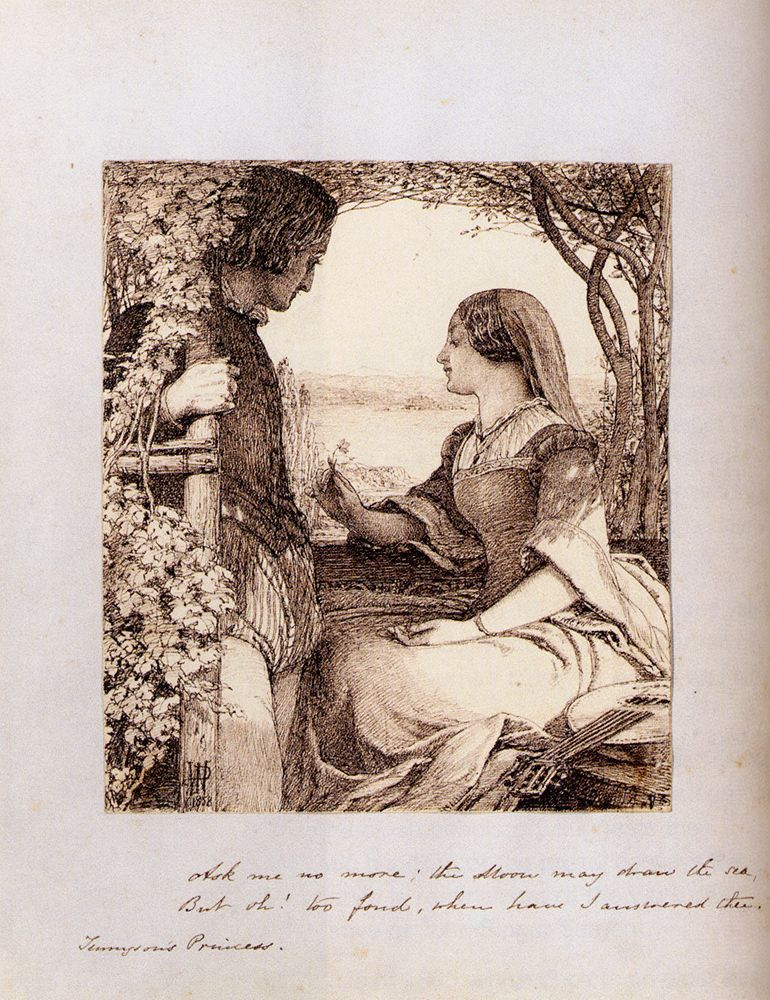 The Princess Tennyson  Ask Me No More by John Dawson Watson
