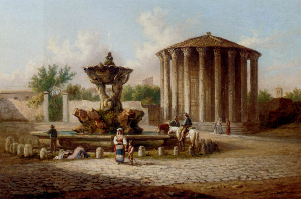 The Temple Of Vesta, Rome by Johann Zahnd