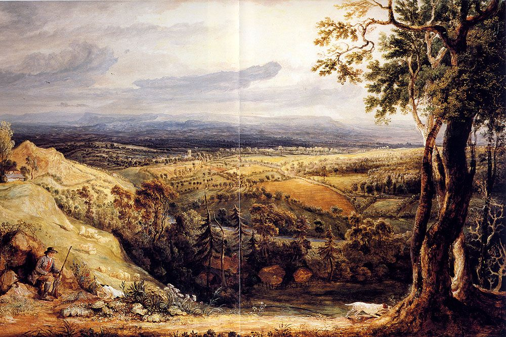 View In Somersetshire From Fitzhead The Seat Of Lord Somerville by James Ward