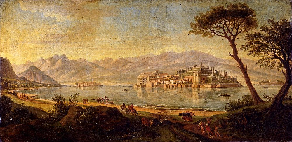 View Of Lake Maggiore With The Isola Bella by Gaspar Van Wittel
