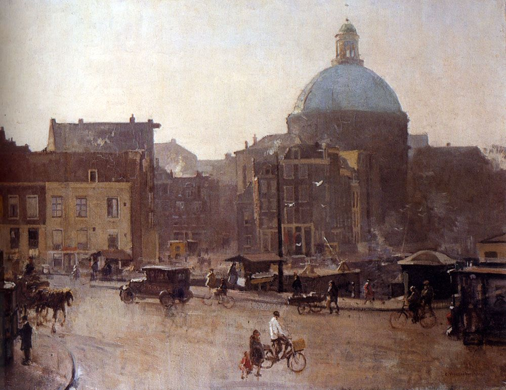 View Of The Singel Amsterdam With The Koepelkerk Beyond by Cornelis Vreedenburgh