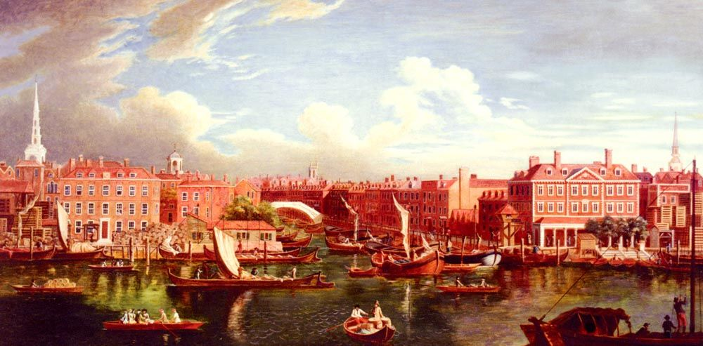 View Of The Thames At The Joining Of The River Fleet by Samuel Wale