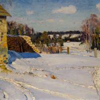 Winter Landscape by Sergei Arsenievich Vinogradov