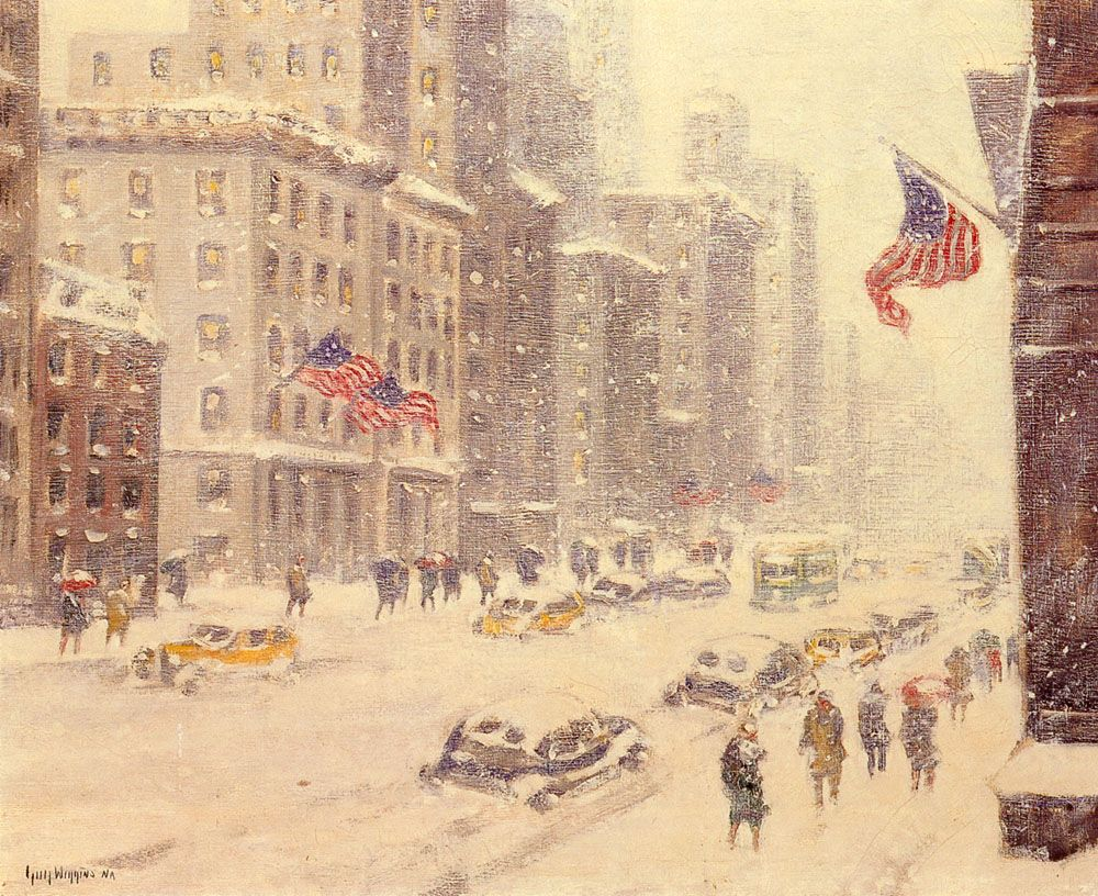 Winters Day Fifth Avenue by Guy Carleton Wiggins