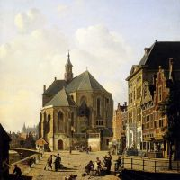A Capricio View In A Town by Jan Hendrik Verheijen