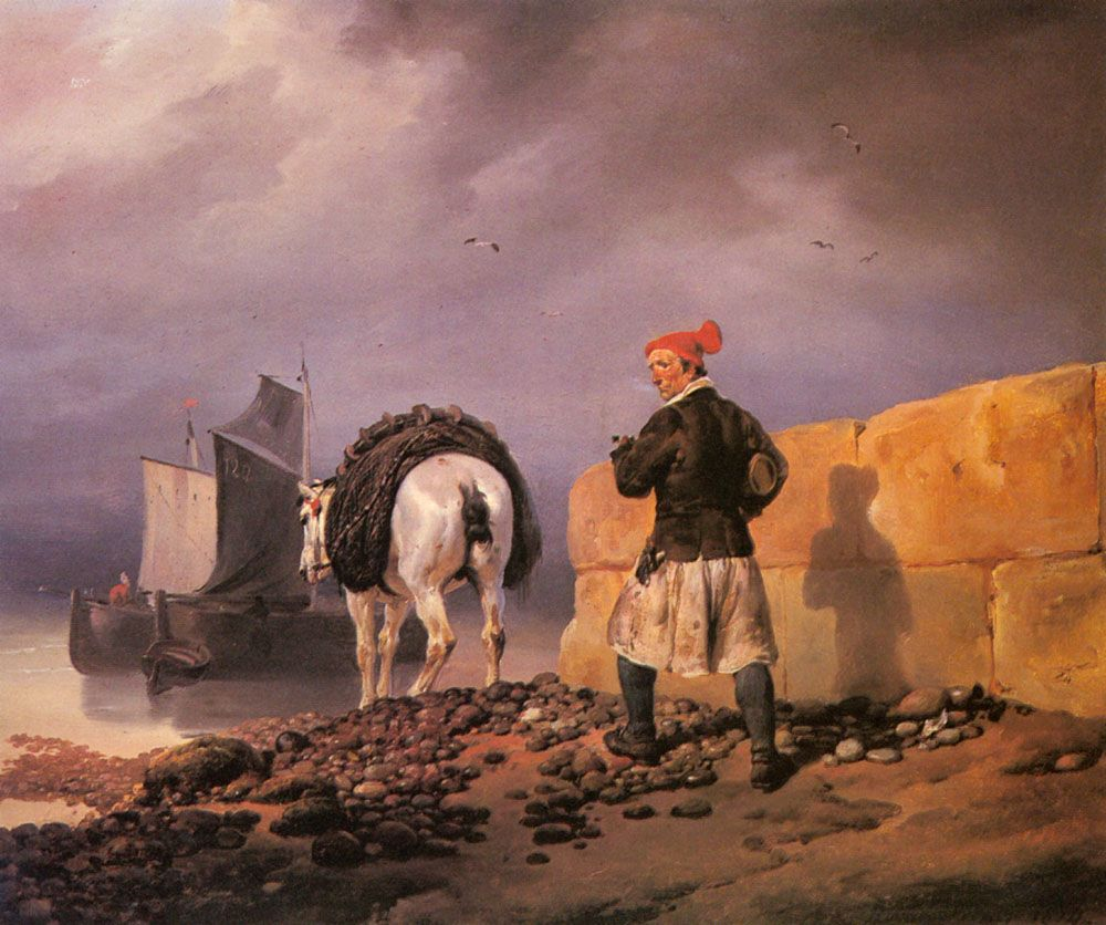 A Fisherman Setting Out by Horace Vernet
