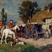 A Hunting Party Ready For The Off by Wilhelm Velten