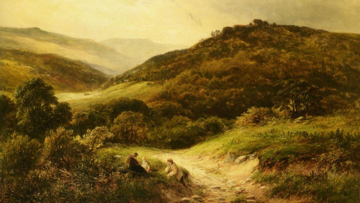 A Sandy Road Near Grundleford Bridge Derbyshire by George Turner