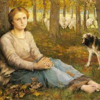 A Shepherdess And Her Flock by Edmond Jean Baptiste Tschaggeny