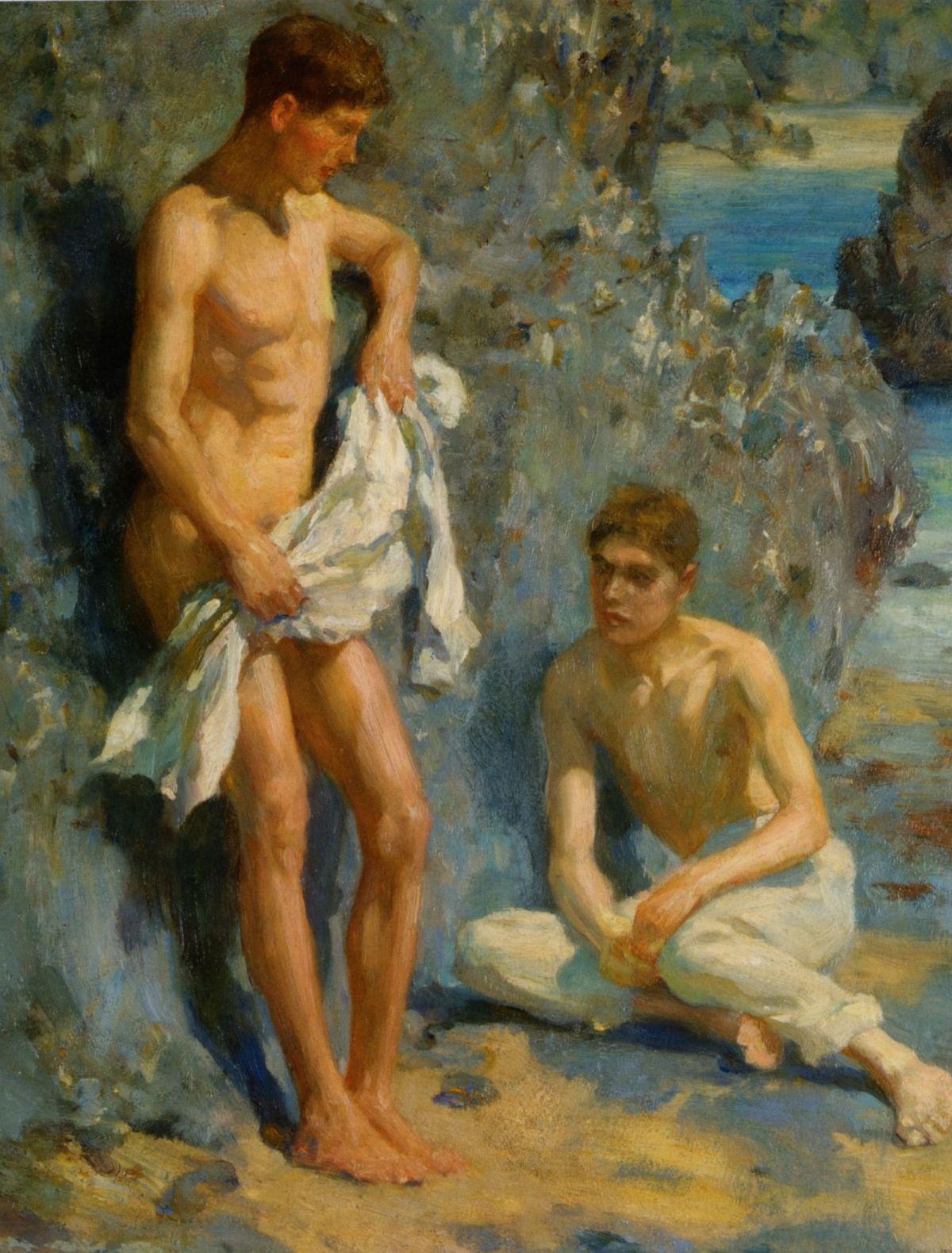 After The Bath by Henry Scott Tuke