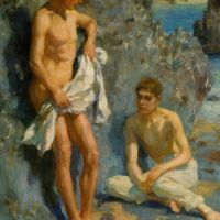 After The Bath by Henry Scott Tuke