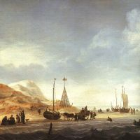 Beach Scene by Willem van de Velde the Younger
