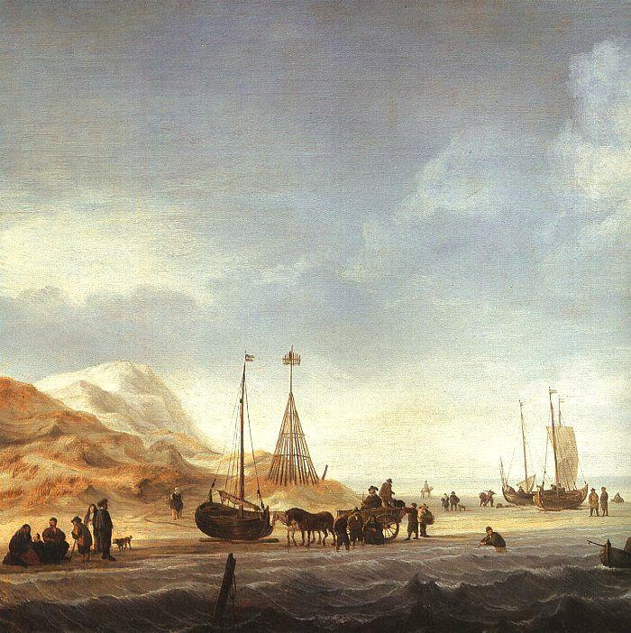 Beach Scene by Willem van de Velde the Younger