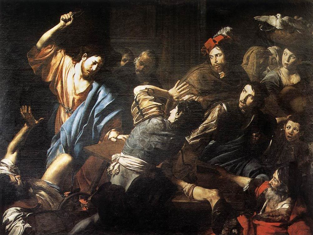 Christ Driving the Money Changers out of the Temple by Jean de Boulogne Valentin