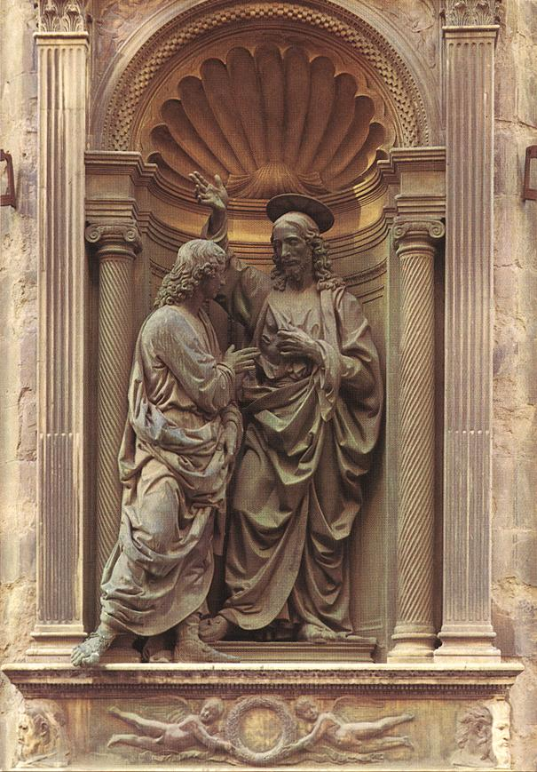 Christ and Doubting Thomas by Andrea del Verrocchio