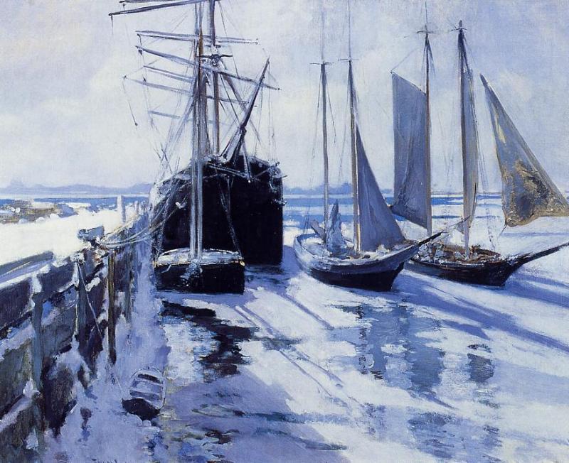 Connecticut Shore Winter by John Twachtman