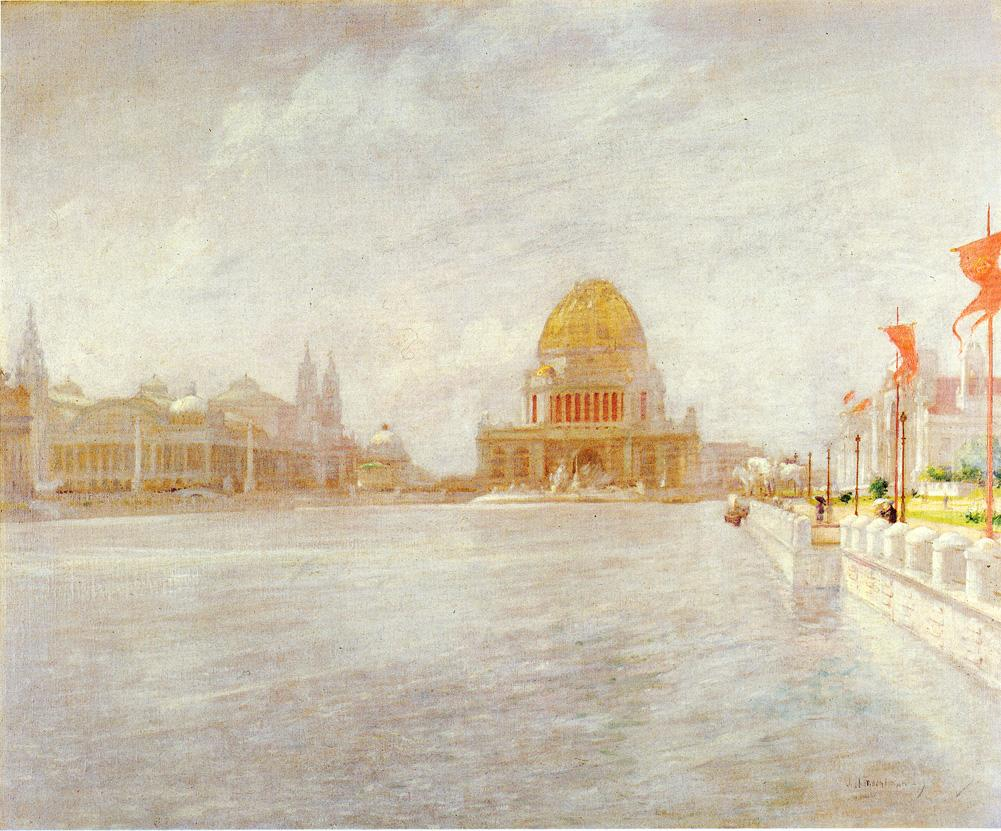 Court of Honor Worlds Columbian Exposition by John Twachtman