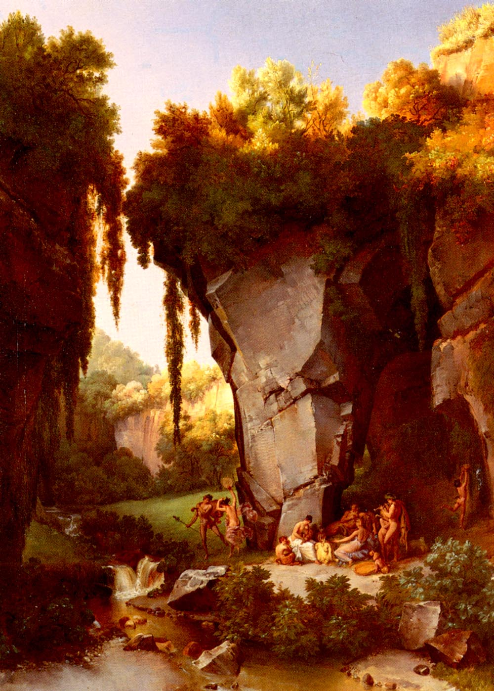 Craggy Landscrape With Bacchanal by Lancelot Theodore Turpin