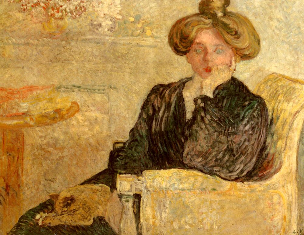Femme dans un fauteuil by Louis Valtat