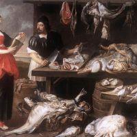 Fishmonger's Stall by Adrian van Utrecht
