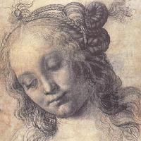 Head of a Girl (study) by Andrea del Verrocchio