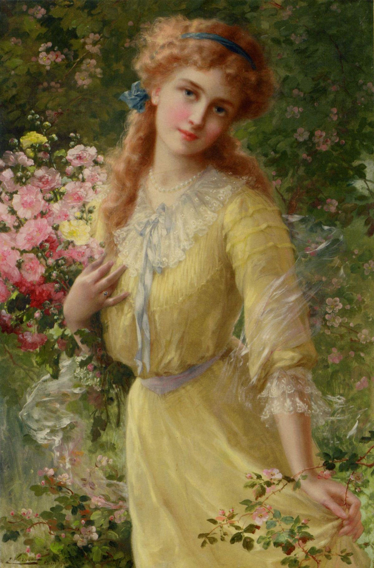 In the Garden by Emile Vernon