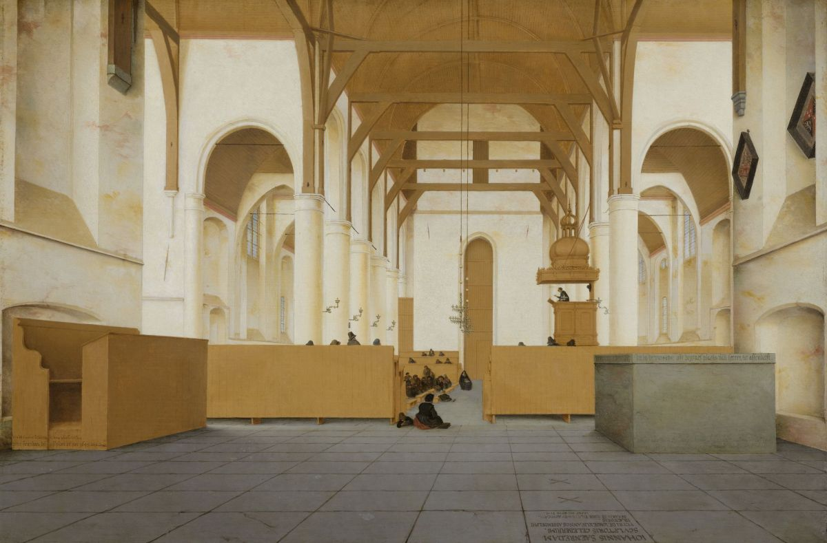 Interior of the Church of St Odulphus, Assendelft by Pieter Jansz Saenredam