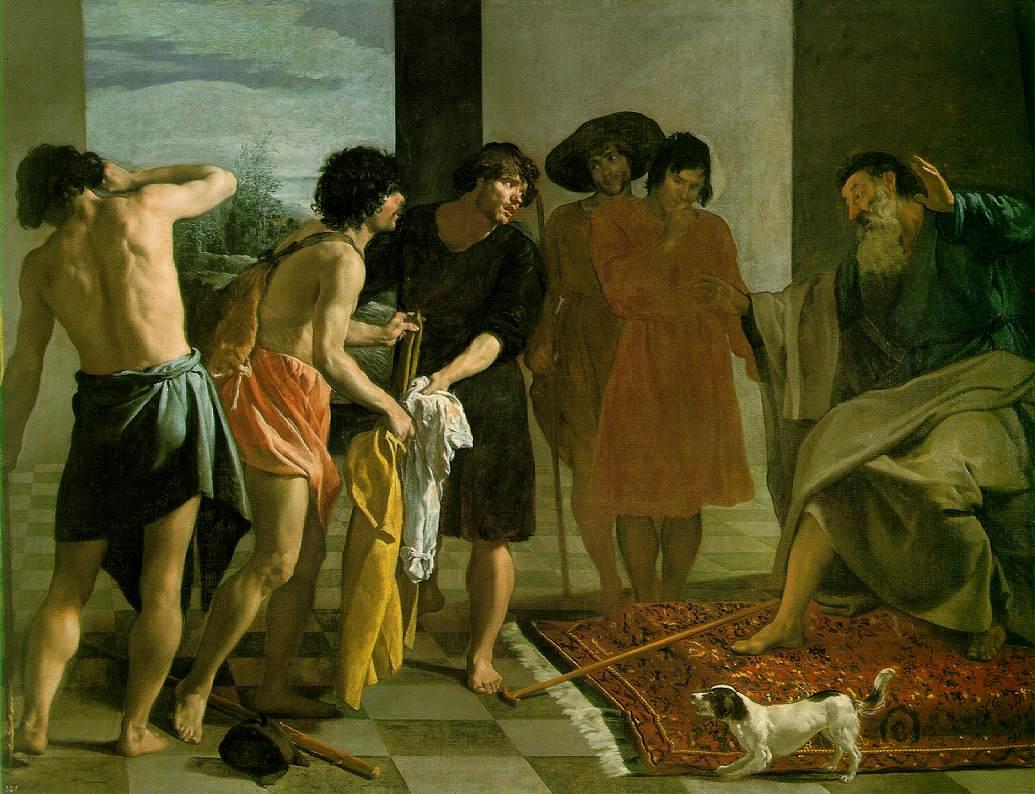 Josephs Bloody Coat Brought to Jacob by Diego Rodriguez de Silva Velazquez