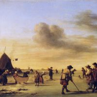 Kolf on the Ice near Haarlem by Adriaen van de Velde