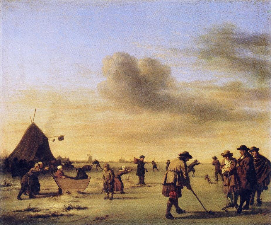 Kolf on the Ice near Haarlem by Adriaen van de Velde