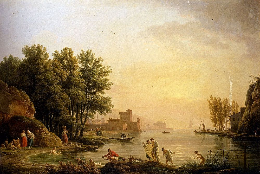 Landscape With Bathers by Claude Joseph Vernet