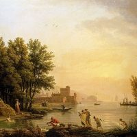 Landscape With Bathers by Claude Joseph Vernet
