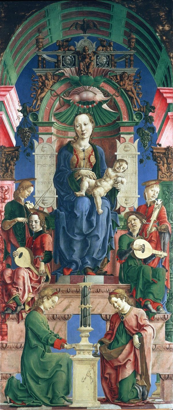 Madonna With Child Enthroned Panel Roverella Polyptych Cosme Tura