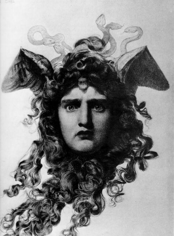 Medusa by Anthony Frederick Sandys