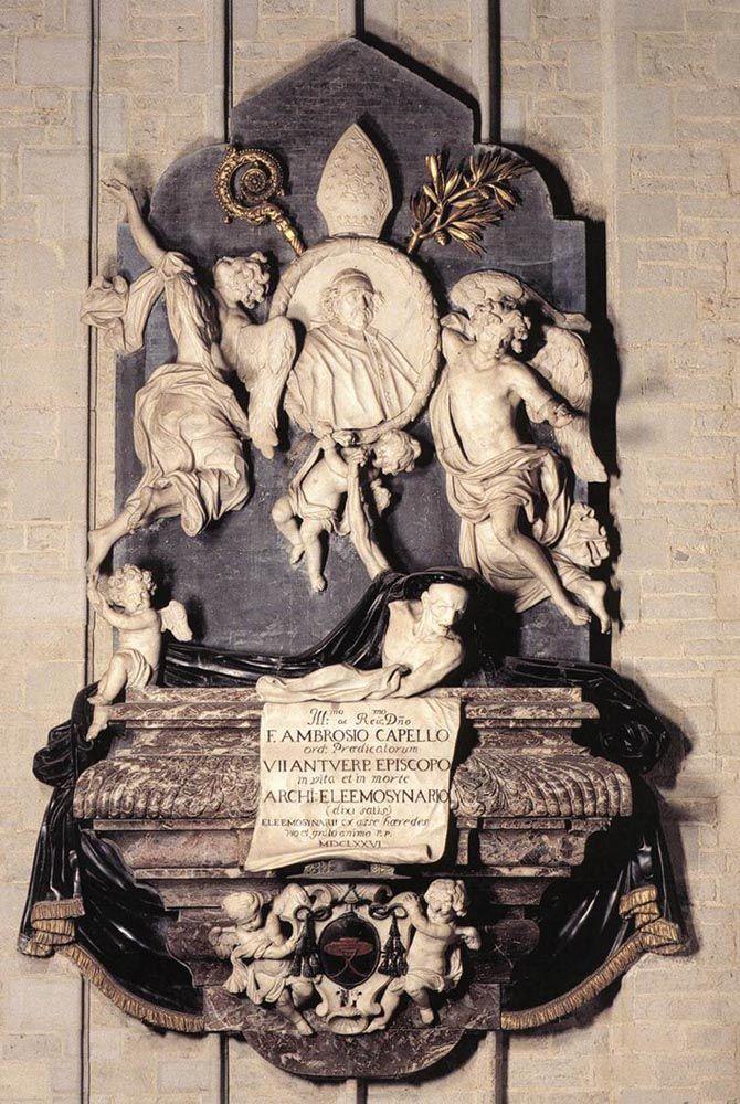 Memorial of Bishop Marius Ambrose Capello by Hendrick Frans Verbruggen