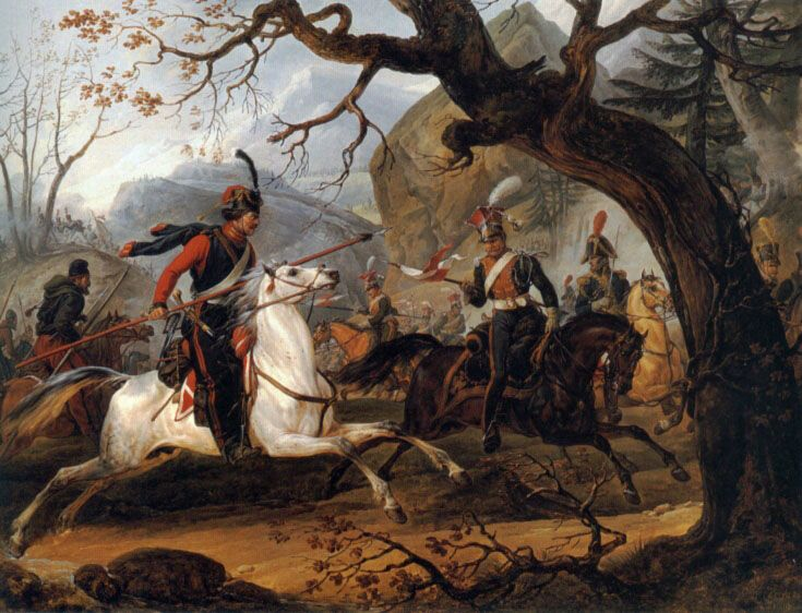 Napoleonic battle in the Alps by Horace Vernet