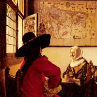 Officer with a Laughing Girl by Johannes Vermeer