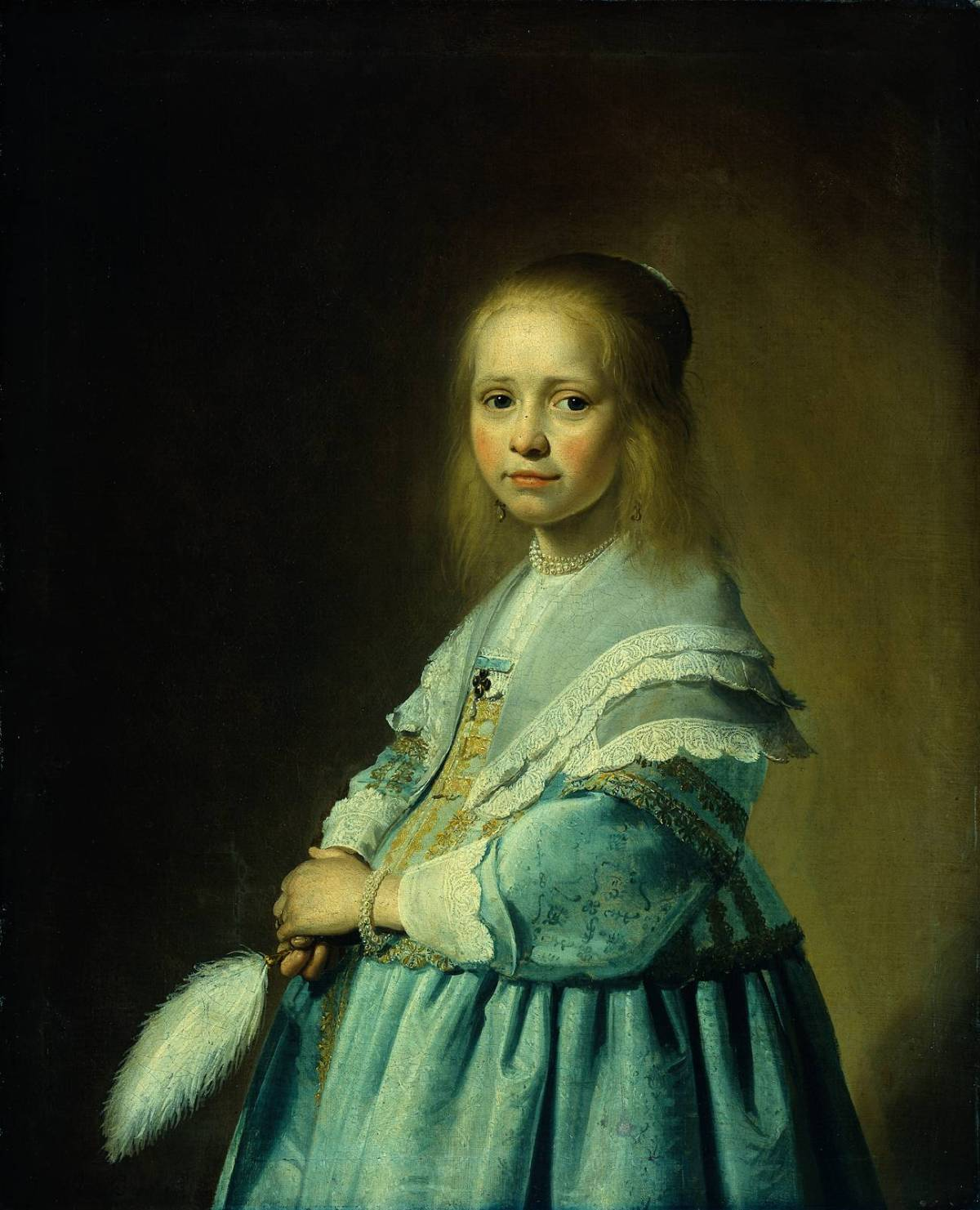 Portrait of a Girl Dressed in Blue by Johannes Cornelisz Verspronck