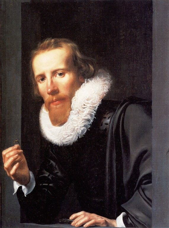 Portrait of a man with a Ring by Werner Jacobsz van den Valckert