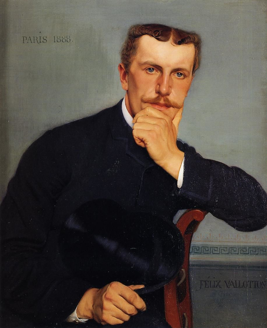 Portrait of the Artists Brother with Hat by Felix Vallotton