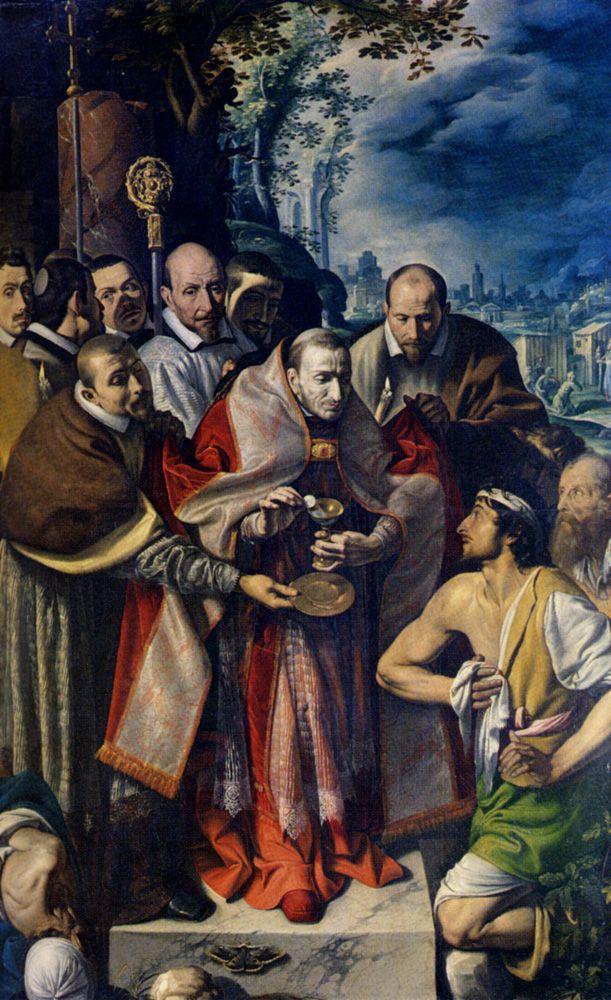 St Carlo Borromeo Giving Communion To The Plague Victims by Tanzio da Varallo