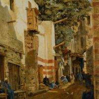 Street of the Sharbouri Cairo by John Varley Junior