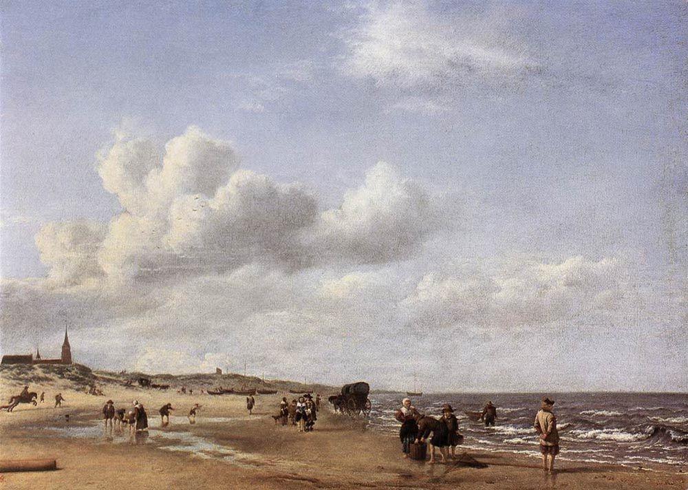 The Beach at Scheveningen by Adriaen van de Velde
