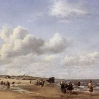 The Beach at Scheveningen by Adriaen van de Velde