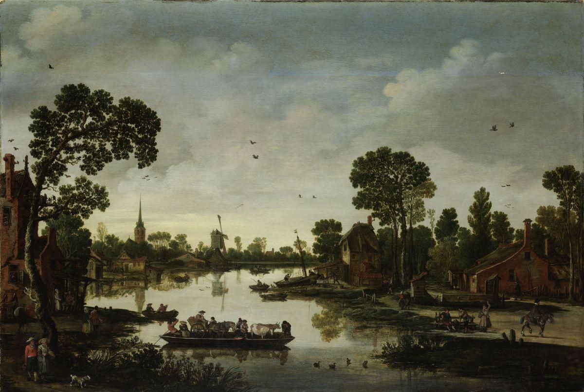 The Cattle Ferry by Esaias van de Velde